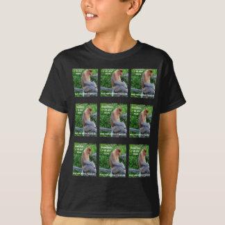 Proboscis Monkey - Sometimes I Sit and Think T-Shirt