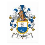 Probst Family Crest Postcards