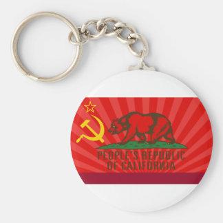 PROC Flag Basic Round Button Keychain