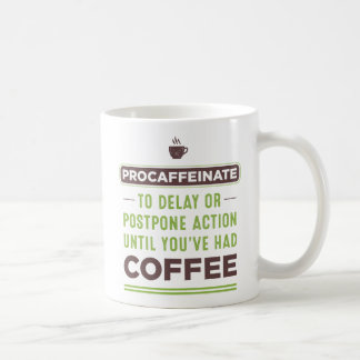 PROCAFFEINATE Definition Coffee Mug