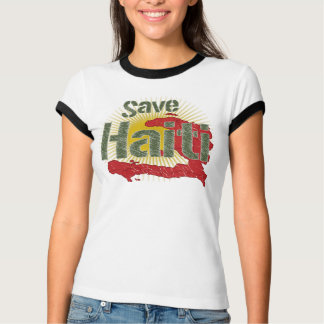 Proceeds go to RED CROSS - Save Haiti (Green) - T-Shirt