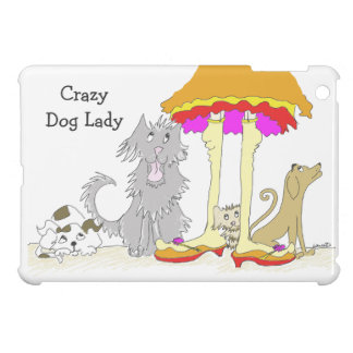Proceeds to Animal Charity Crazy Dog Lady iPad Mini Case