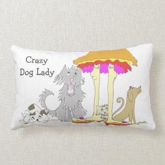 Proceeds to Animal Charity Crazy Dog Lady Lumbar Pillow