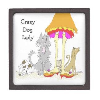 Proceeds to Animal Charity Crazy Dog Lady Premium Trinket Box