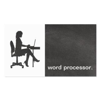 Procesador de textos legal de la silueta moderna d plantillas de tarjetas personales