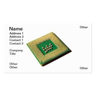 Procesador del ordenador tarjeta de visita