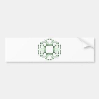 Procesador eléctrico de la placa de circuito etiqueta de parachoque