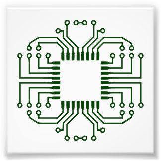 Procesador eléctrico de la placa de circuito arte fotografico