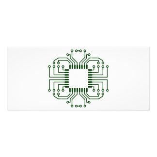 Procesador eléctrico de la placa de circuito tarjetas publicitarias