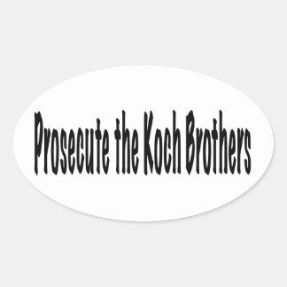 Procese a los hermanos de Koch Pegatina Ovalada