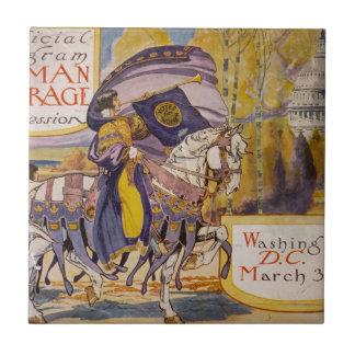 Procesión 1913 del sufragio azulejo