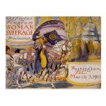 Procesión 1913 del sufragio postales