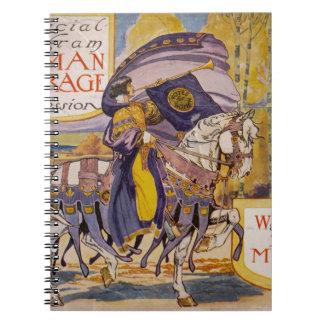 Procesión 1913 del sufragio spiral notebooks
