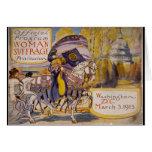 Procesión 1913 del sufragio tarjeta de felicitación