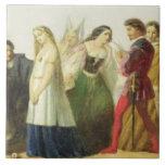 Procesión de caracteres de Shakespeare (aceite enc Teja