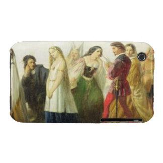 Procesión de caracteres de Shakespeare aceite enc Case-Mate iPhone 3 Funda