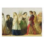 Procesión de caracteres de Shakespeare (aceite enc Tarjeta De Felicitación