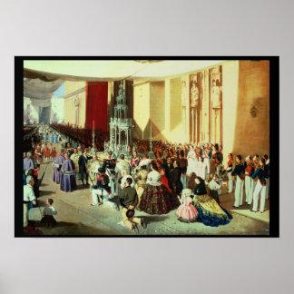 Procesión de Corpus Christi en Sevilla Póster