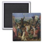 Procesión de cruzados alrededor de Jerusalén Imán Cuadrado