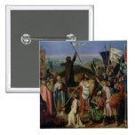 Procesión de cruzados alrededor de Jerusalén Pin Cuadrado
