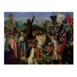 Procesión de cruzados alrededor de Jerusalén Postal