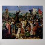 Procesión de cruzados alrededor de Jerusalén Póster