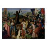 Procesión de cruzados alrededor de Jerusalén Tarjeta De Felicitación