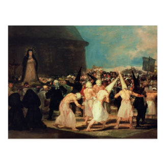 Procesión de flagelantes, 1815-19 postales