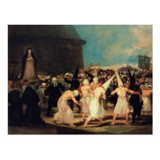 Procesión de flagelantes, 1815-19 tarjetas postales