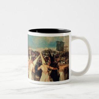 Procesión de flagelantes, 1815-19 taza de café