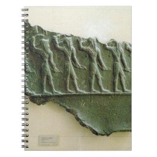 Procesión de los guerreros de Elamite, Susa, Irán, Libretas Espirales