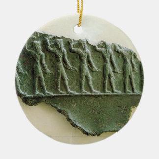 Procesión de los guerreros de Elamite, Susa, Irán, Adorno Redondo De Cerámica