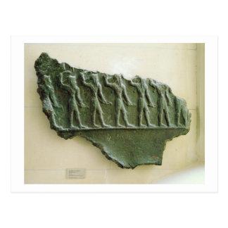 Procesión de los guerreros de Elamite, Susa, Irán, Tarjetas Postales