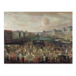 Procesión de Louis XIV a través del Pont-Neuf Postal