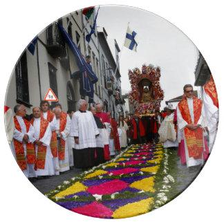 Procesión de Santo Cristo Platos De Cerámica