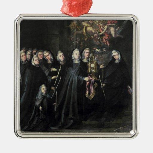 Procesión de St. Clare con la eucaristía Ornamentos Para Reyes Magos