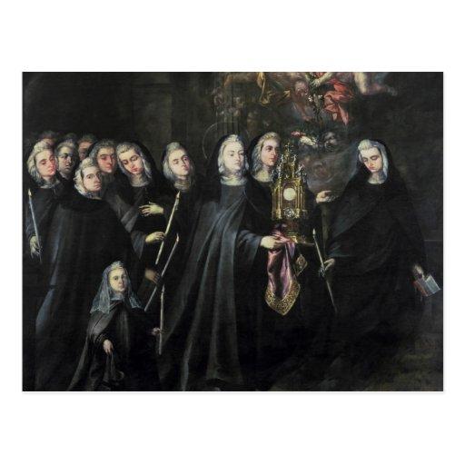 Procesión de St. Clare con la eucaristía Postales