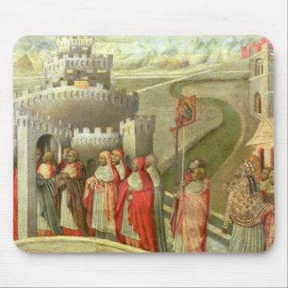 Procesión de St Gregory al St. Ángel de Castel Mousepads