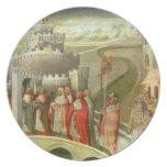 Procesión de St Gregory al St. Ángel de Castel Plato De Comida