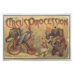 Procesión del circo, 1888, vintage mantel
