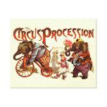 Procesión del circo impresión en lona