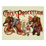 Procesión del circo impresiones