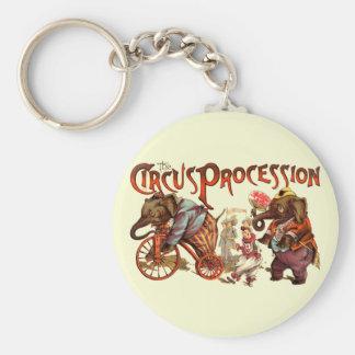 Procesión del circo llaveros personalizados