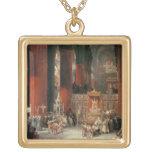 Procesión en la catedral de Sevilla, 1833 (aceite  Colgante Cuadrado