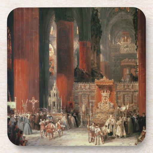 Procesión en la catedral de Sevilla, 1833 (aceite  Posavasos De Bebidas