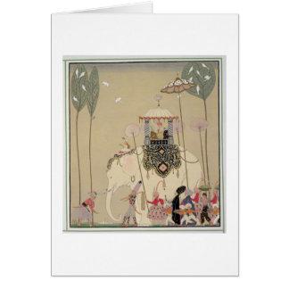 Procesión imperial (litho del color) tarjeta de felicitación