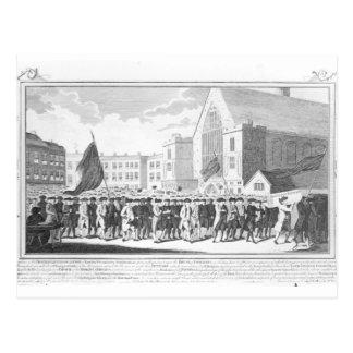 Procesión pacífica de los miembros del Protestant Postales