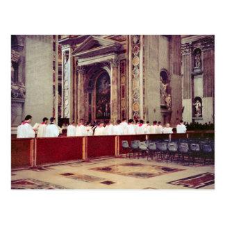 Procesión papal de Juan Pablo II dentro de San Ped Postales