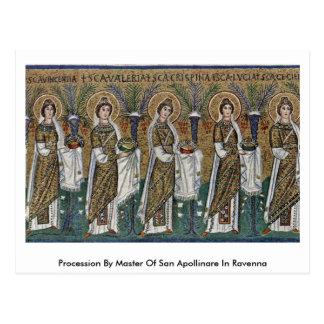 Procesión por el amo de San Apollinare en Ravena Postal