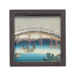 Procesión sobre un puente (impresión del woodblock caja de regalo de calidad